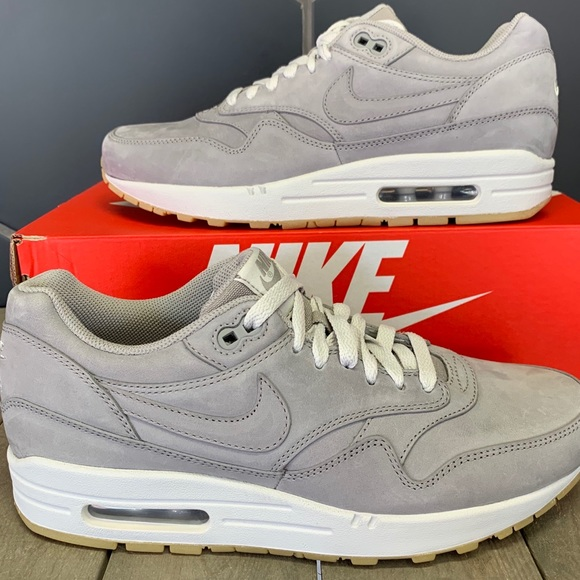 New! Nike Air Max 1 LTR Grey Gum Running Shoes